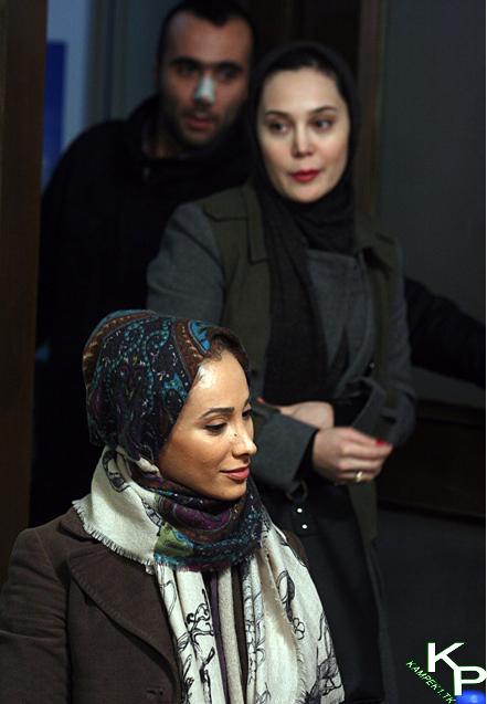 سحر ذکریا و ارام جعفری در نشست خبری سریال میلیاردر