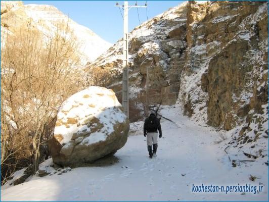 مسیر فرحزاد به امامزاده داوود