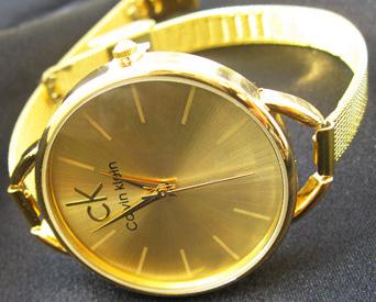 خرید ساعت مچی زنانه ck طلایی