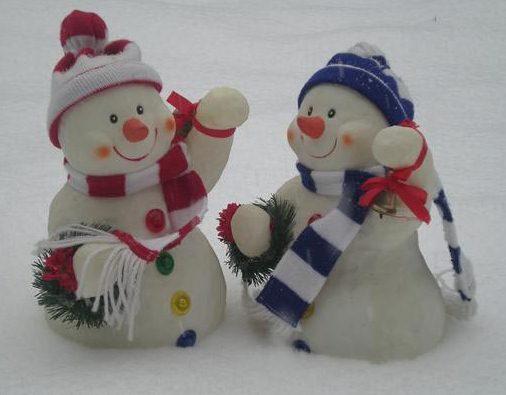 two snowmen - دو تا آدم برفی خوشگل
