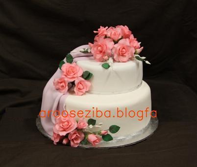 عکس کیک عروسی خوشمزه