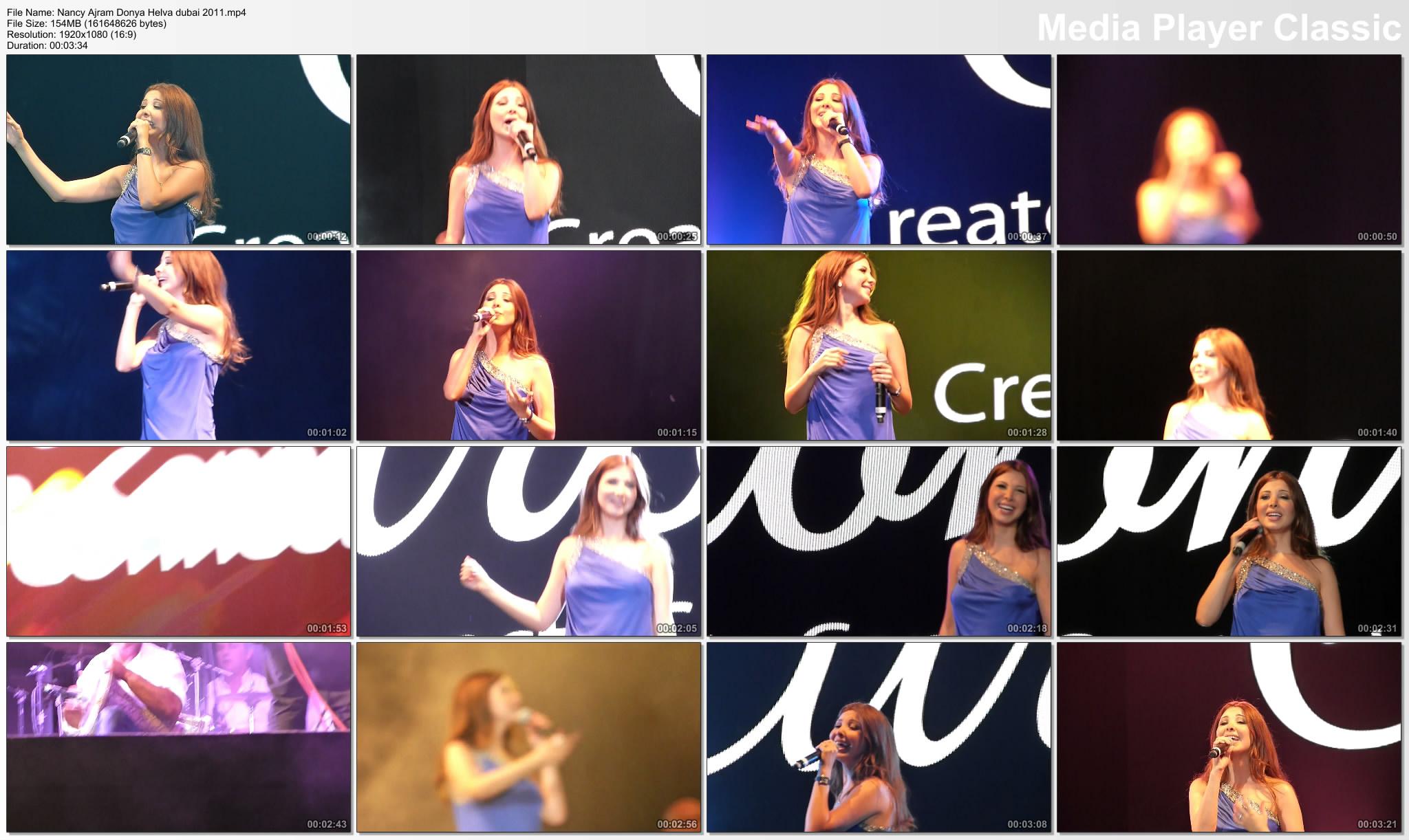 دانلود ویدیو اجرا های نانسی عجرم در دبی 2011با کیفیت Full HD 1080p