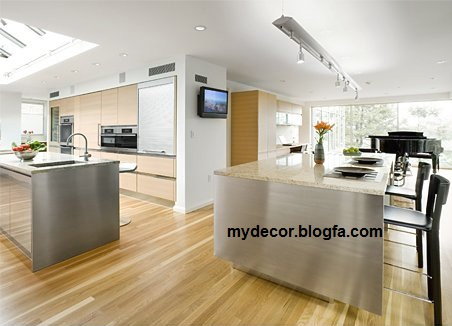 آشپزخانه بزرگ و مدرن