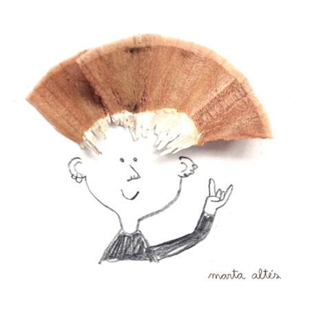 مطالب داغ: نقاشی های زیبا با تراشه های مداد