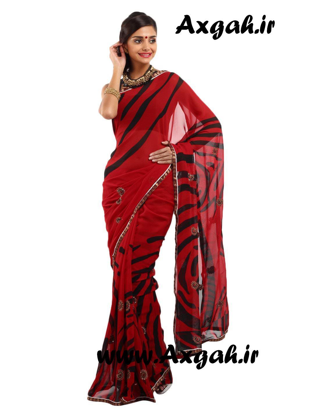 Indian Women Red and Black Printed Fashion Saree f25e8e5193e26b2a901b57fbe4287a8c images 1080 1440 mini مدل های لباس هندی 2013