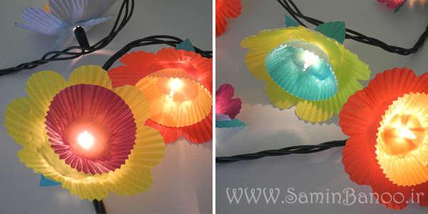 چراغ-های-بهاری-کاغذ-شیرینی-cupcake-flower-lights
