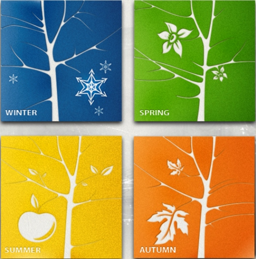 Winter Spring Summer Fall - The 4 seasons - four seasons - چهار فصل سال - بهار تابستان پاییز زمستان
