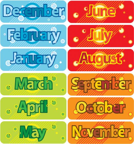 Months and seasons - ماه ها و فصل های انگلیسی