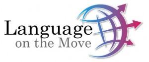 language on the move logo - لوگوی سایت زبان در حرکت