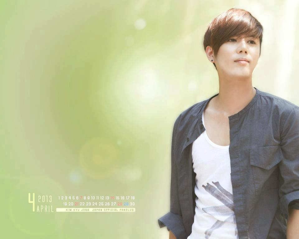 08222512903479579438  [Trans] Kim Kyu Jong   Twitter Site Update [13.04.12 &[Photo] Kim Kyu Jong   Japan Official Site Update April 2013 Calendar Wallpaper]