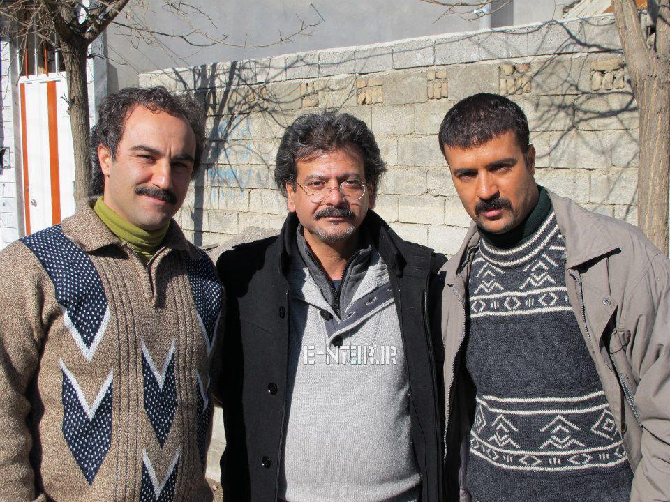 عکس جدید احمد مهران فر و محسن طنابنده در پشت صحنه سریال پایتخت