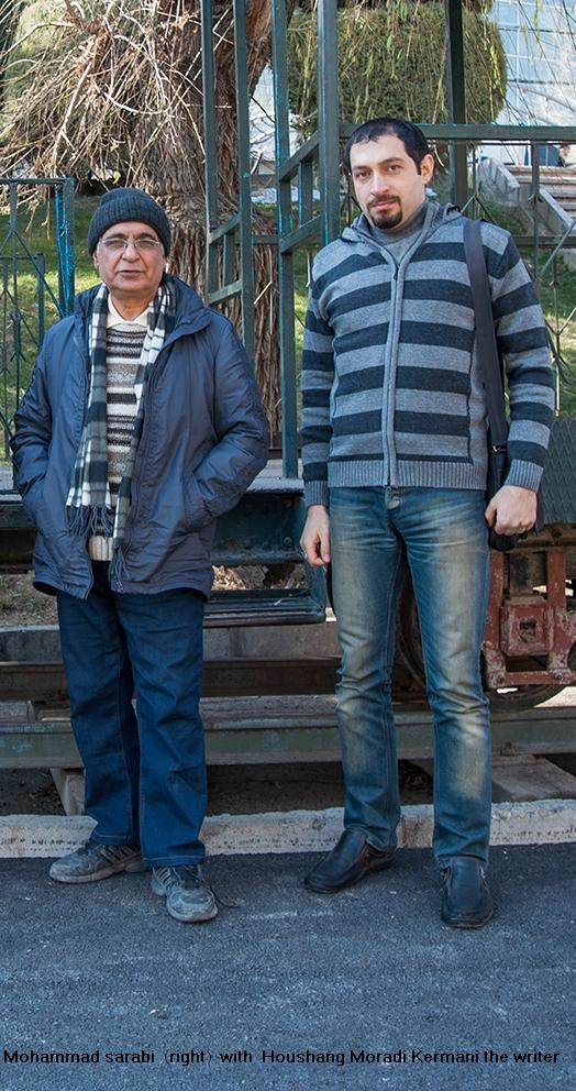 Mohammad sarabi  (right)  with  Houshang Moradi Kermani the writer - 2013