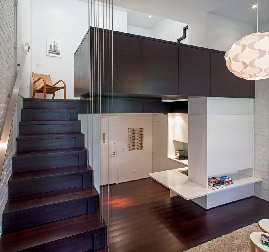آپارتمانی کوچک در شهر منهتن