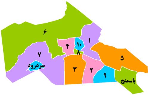 نقشه شهرداری