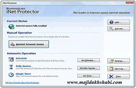 نرم افزار محدود کردن دسترسی اینترنت