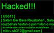 هک شدن سایت دانشگاه روزبهان
