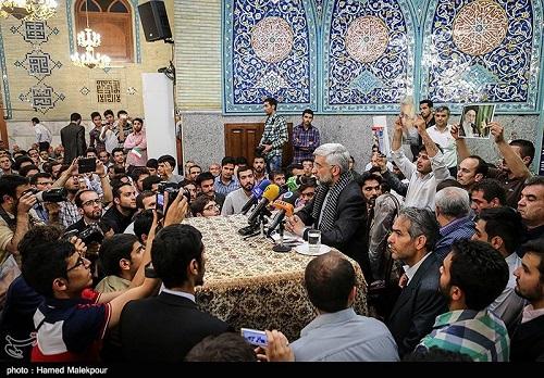سعید جلیلی در مسجد شهید بهشتی تهران