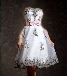 مدل لباس مجلسی دكلته كوتاه سفید