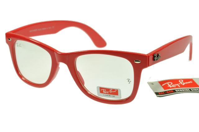 عینک ویفر رنگی فریم قرمز شفاف