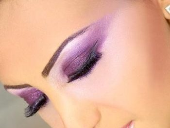 مدل سایه چشم عربی مدل سایه چشم خلیجی 2013 بتفش