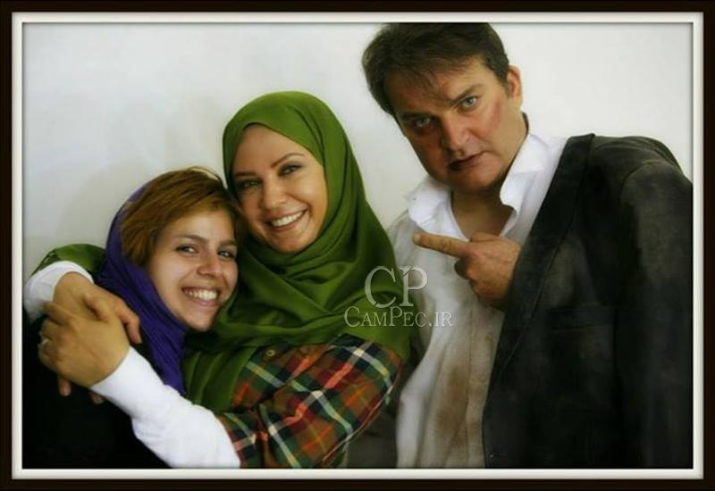 مهدی سلطانی و لعیا زنگنه در پشت صحنه سریال مادرانه
