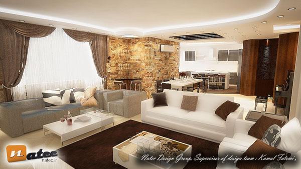 نمونه کار طراحی آپارتمان از گروه طراحی ناتک