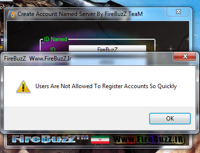 Create Account Named Server By FireBuzZ TeaM Screen2