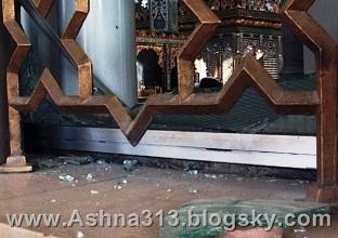 اصابت خمپاره به حرم حضرت زینب