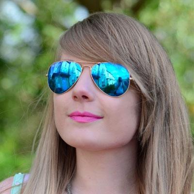 عینک آفتابی  مردانه 2013 , عینک آفتابی زنانه شیشه آبی