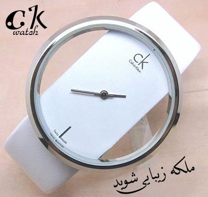 ساعت مچی شیک طرح ck رنگ سفید