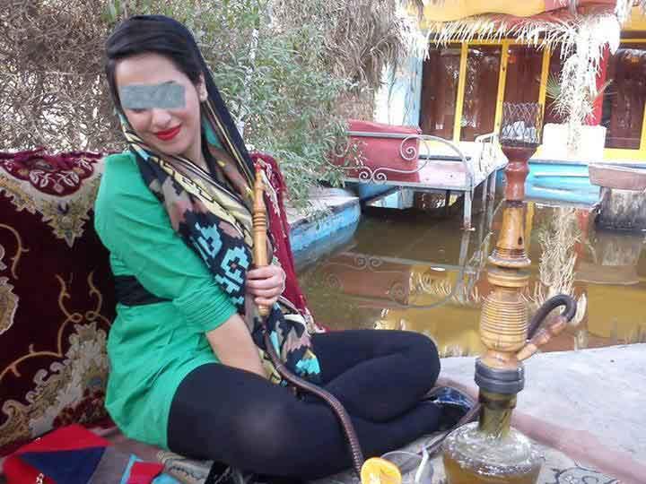 عکس دختر ایرانی با ساپورت نازک فیس بوک