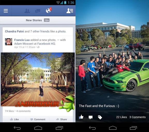 دانلود برنامه  Facebook v3.5  برای اندروید