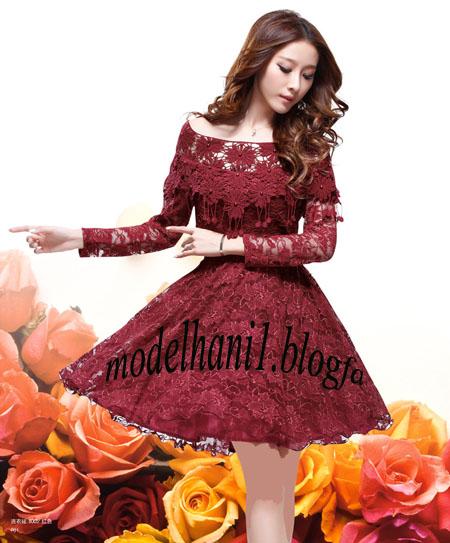 مدل لباس کره ای با پارچه ی گیپور