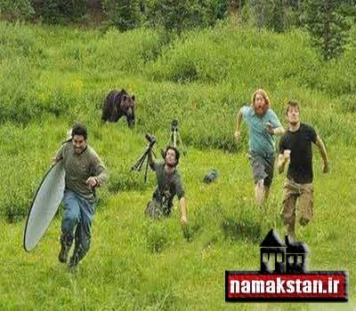 عکس خنده دار فرار از خرس
