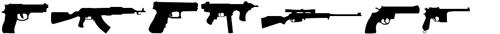 فونت تفنگ