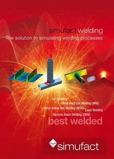 Simufact welding 2.5 طراحی و تحلیل جوشکاری صنعتی نمودار با نقاط اندازه گیری برای مقایسه با جوش آزمون استاندارد جوشکاری