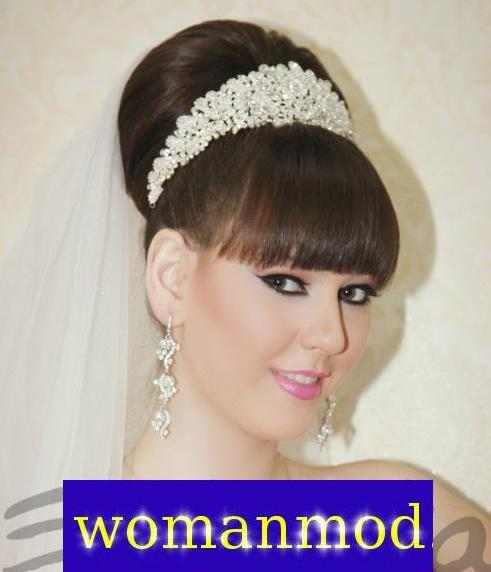 عکس شینیون موی عروس همراه با میکاپ عروس