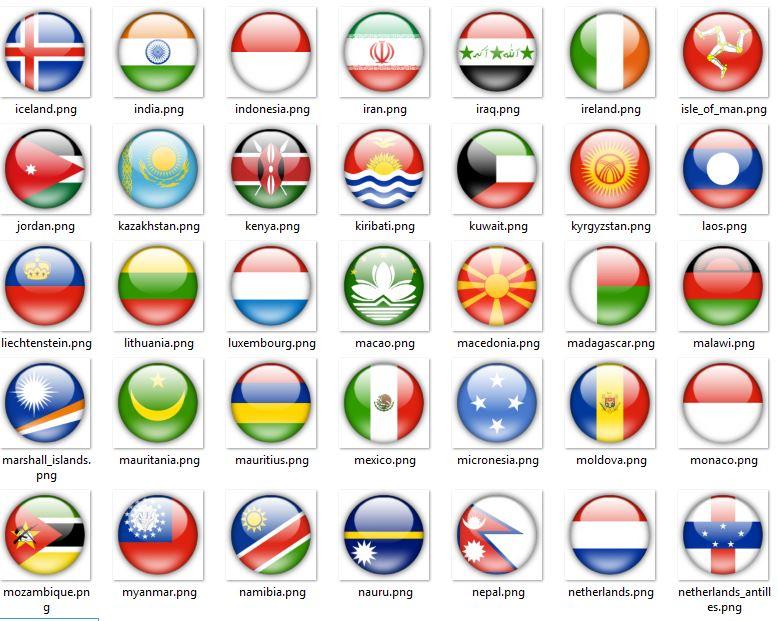 عکس تمامی کشور های جهان با فرمت PNG