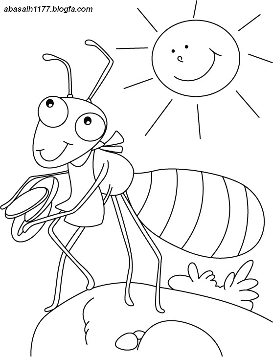 ant hill coloring page - cartoon ant hill page coloring pages