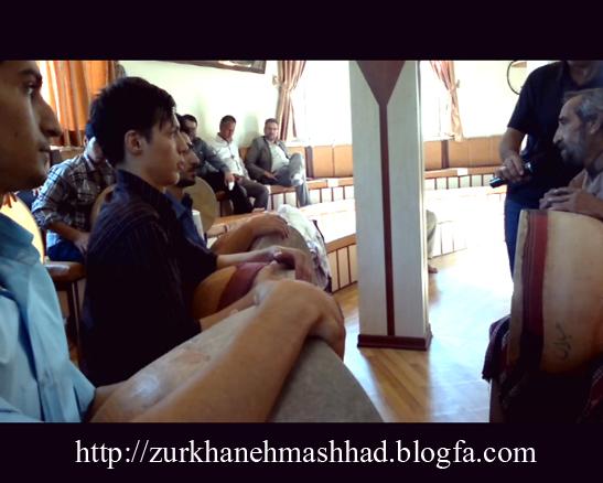 برگزاری کلاس های آموزشی مرشدی در زورخانه شهرداری مشهد - استاد فرامرز نجفی تهرانی