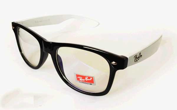 عینک فریم رنگی شیشه شفاف