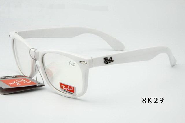 عینک ویفری شیشه شفاف فریم سفید