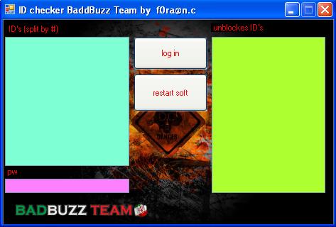 Badbuzz ID checker Chk