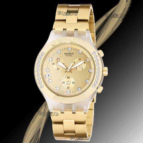 خرید ساعت سواچ طلایی