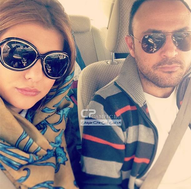 علیرضا کمالی و همسرش دنیا مدنی(دختر رویا تیموریان)