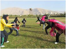 تشکر از مربی ورزشی انجمن ورزشی فریزبی - گزارش فعالیت بانوان فریزبی کار کرمانشاه