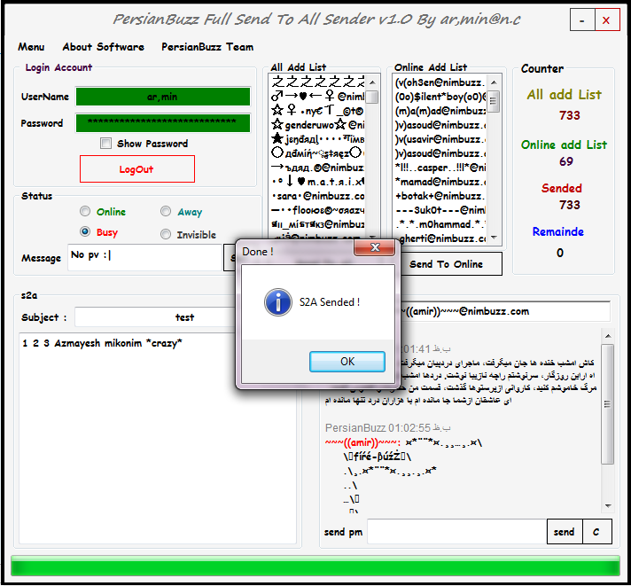PersianBuzz Full Send To All Sender v1.0 By ar,min@n.c S2a