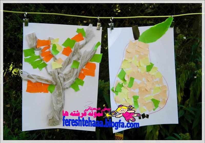 کاردستی میوه ها برای مهد پیش دبستانی سه ستاره فرشته ها - کلاژ