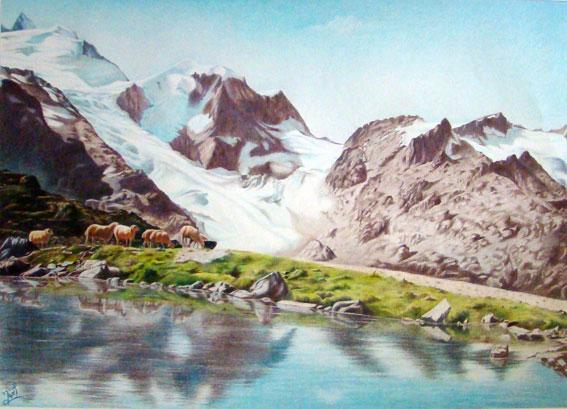 فروش تابلو نقاشی کوهستان