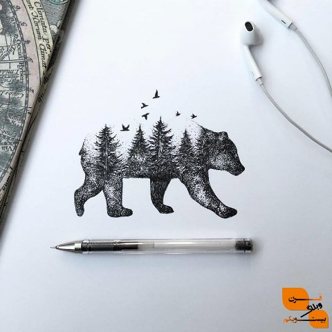 طراحی با قلم سیاه